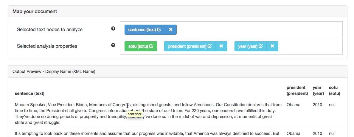 Selecting metadata from XML files