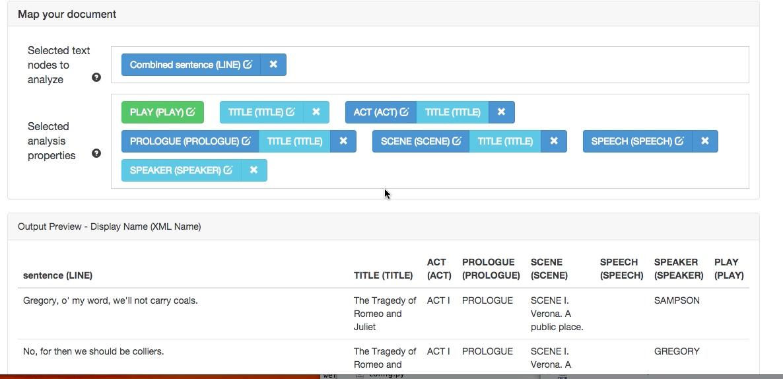Converting XML of Shakespeare's plays to WordSeer's format.